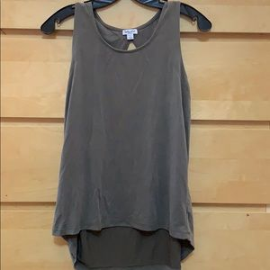 Splendid olive green tank top small